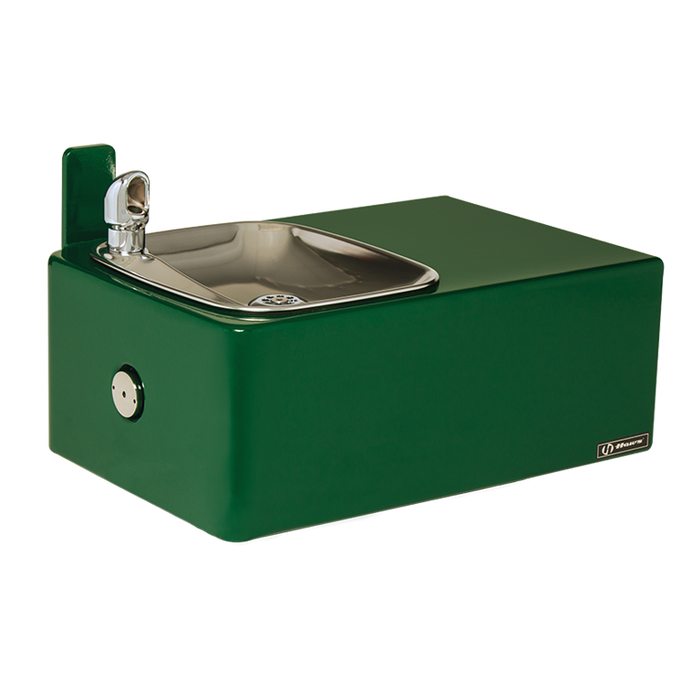 Haws 1025, Wall Mounted, Barrier-Free, Single Bubbler, 11 Gauge Fabricated Steel Drinking Fountain with Powder-Coated Finish Over a Galvanized Substrate, (Non-Refrigerated)