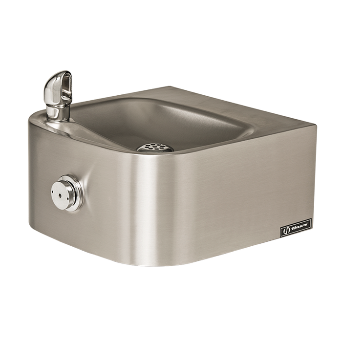 Haws 1105, Single Bubbler, Wall Mounted, Stainless Steel Drinking Fountain with Satin Finish, (Non-Refrigerated)