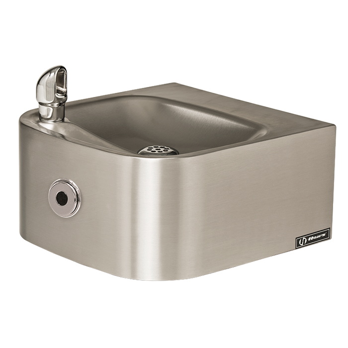 Haws 1105HO Touchless Drinking Fountain, Wall Mounted, Stainless Steel with Satin Finish, Non-Refrigerated