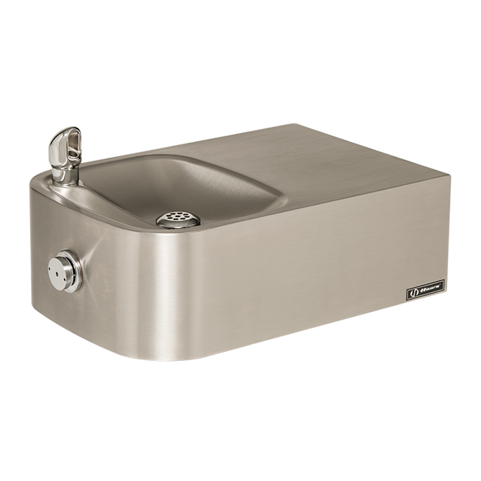 Haws 1109.14, Single Bubbler, Wall Mounted, Barrier-Free, 14 Gauge Stainless Steel Drinking Fountain with Satin Finish, (Non-Refrigerated)
