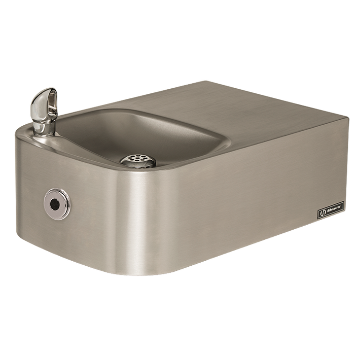 Haws 1109HO Touchless Drinking Fountain, Wall Mounted, ADA, Stainless Steel with Satin Finish, Non-Refrigerated