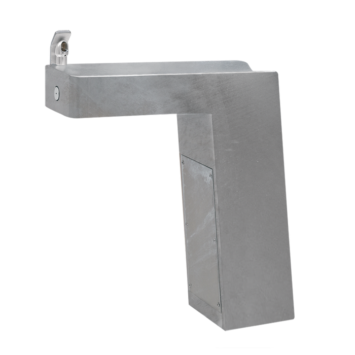 Haws 3202G, Barrier-Free, Trough Style Steel Pedestal Drinking Fountain with Galvanized Finish, (Non-Refrigerated)