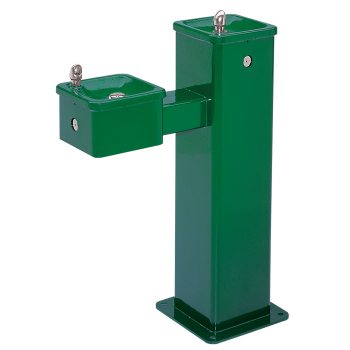 """Haws 3500, """"Hi-Lo"""" Barrier-Free, Vandal-Resistant Superior-Duty, Stainless Steel Pedestal Drinking Fountain, (Non-Refrigerated)"""