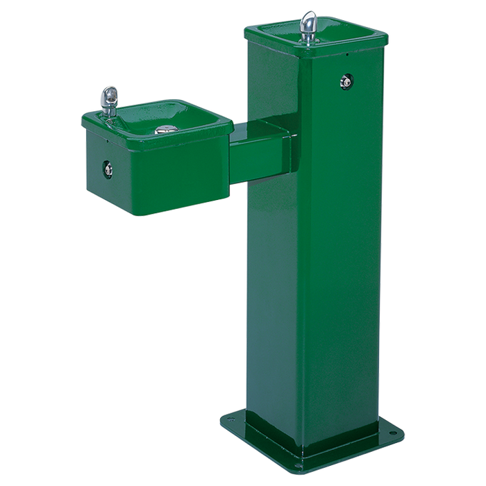 """Haws 3500FR, Freeze-Resistant, """"Hi-Lo"""" Barrier-Free, Superior-Duty Stainless Steel Pedestal Drinking Fountain, (Non-Refrigerated)"""