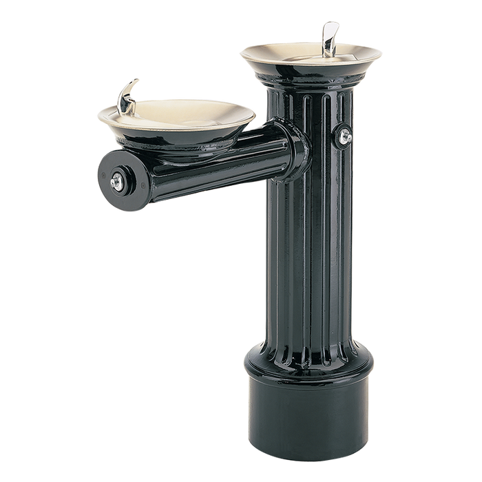 """Haws 3511FR, Freeze-Resistant, """"Hi-Lo"""" Barrier-Free, Antique Historic Style, Heavy-Duty Cast Aluminum Pedestal Drinking Fountain, (Non-Refrigerated)"""