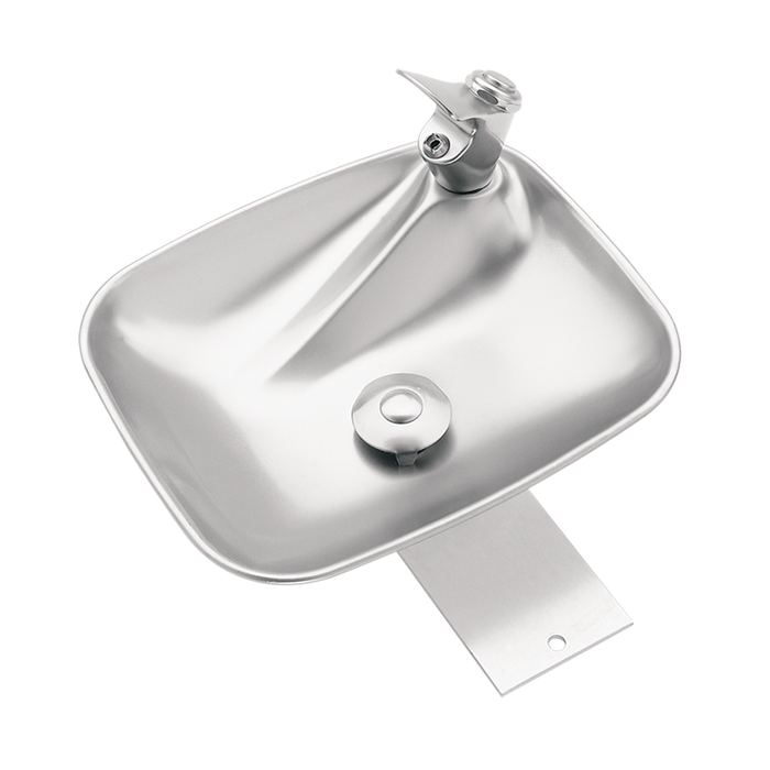 Haws 4010, Deck Mounted, Single Bubbler Drinking Fountain with Stainless Steel Bowl, (Non-Refrigerated)