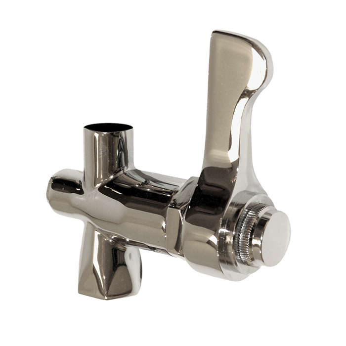 Haws 5830LF, Chrome-Plated Brass Bubbler Lever Handle Valve with Screwdriver Adjustment Stream Control