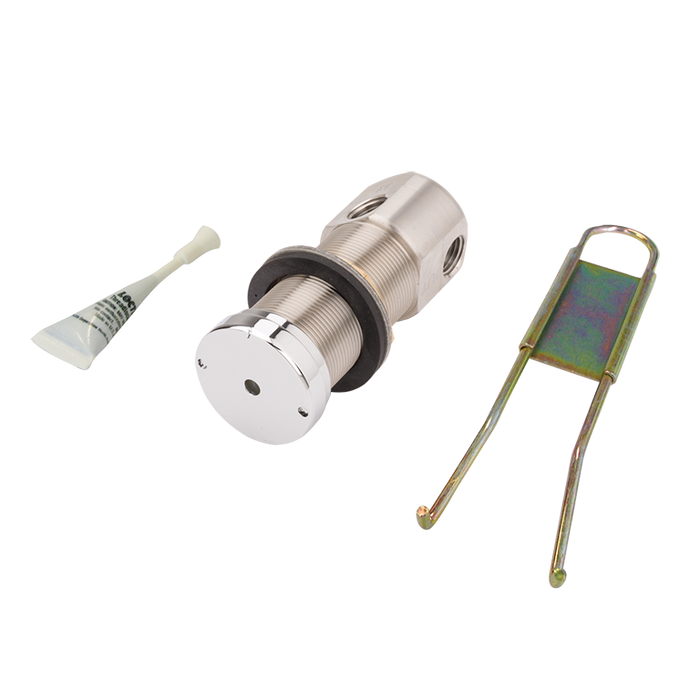 Haws 5874PB, Valve and Push Button Assembly, Recessed, Lead-Free, Stainless Steel, Chrome-Plated Brass