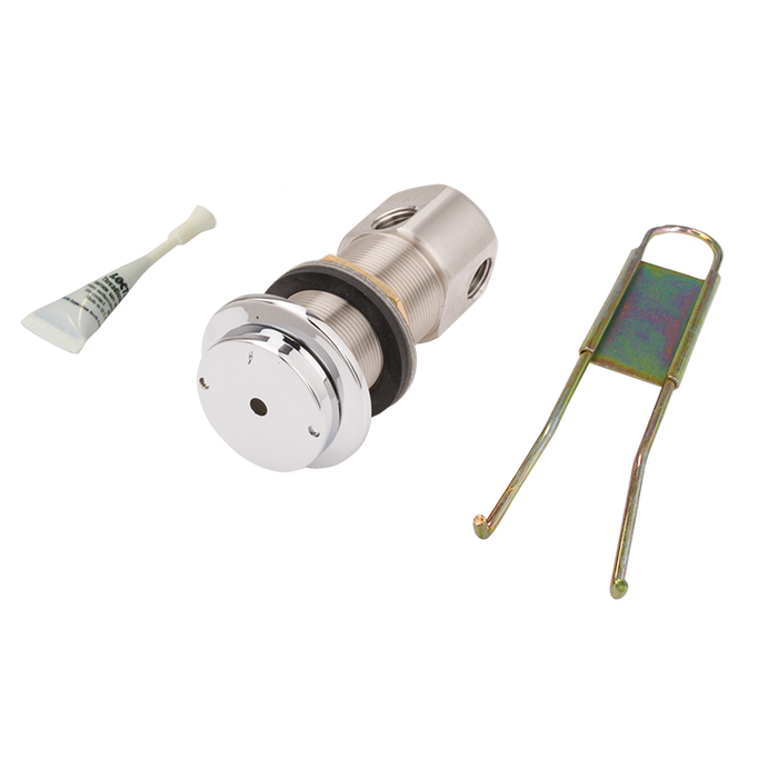 Haws 5874PBF, Valve and Push Button Assembly, Flush Mounted, Lead-Free, Stainless Steel, Chrome-Plated Brass