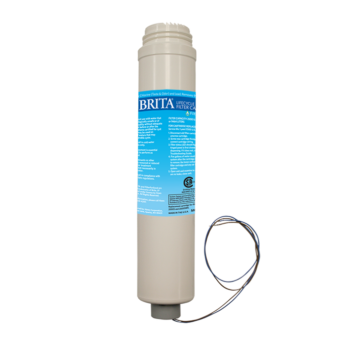 Haws 6429, Brita Hydration Station 2500 gallon (9463 L) replacement filter with electronic life cycle control