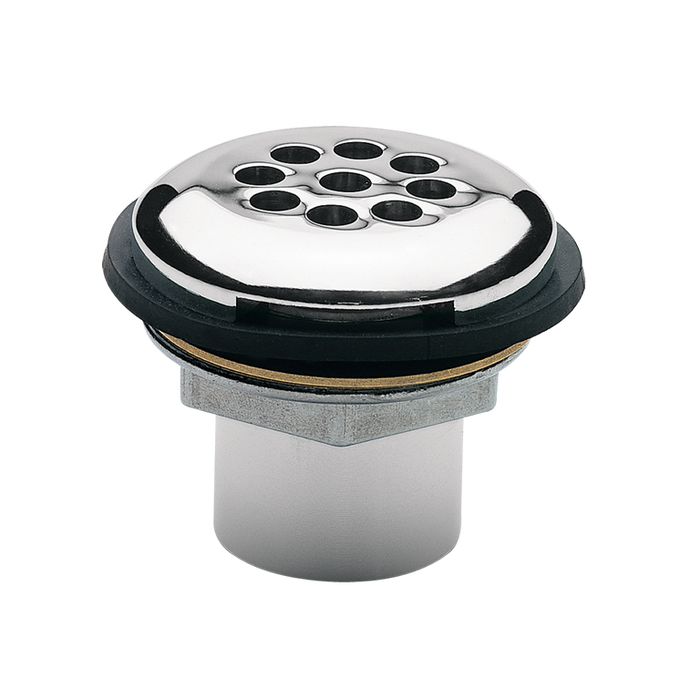 Haws 6462, Polished Chrome-Plated Brass Vandal-Resistant Combination Waste Strainer and Tailpiece Assembly