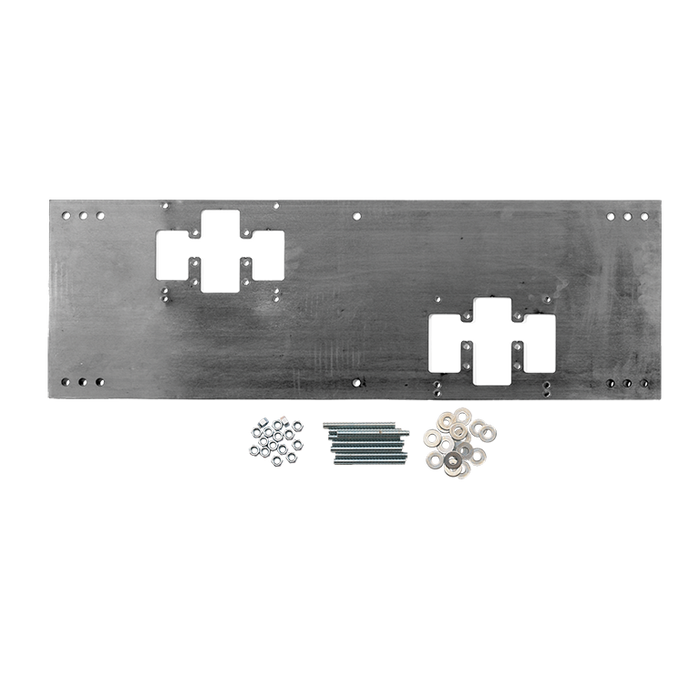 """Haws 6700.4 """"Hi-Lo"""" universal mounting plate for most dual bubbler fountains"""
