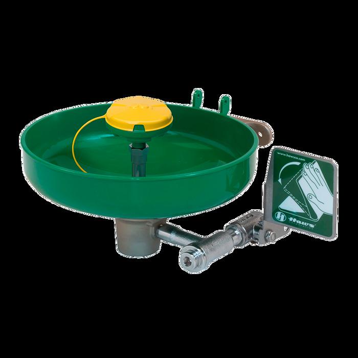 "Haws 7260B-7270B, Wall Mounted, 11"" Green ABS Plastic Bowl Eye/Face Wash with AXION MSR Eye/Face Wash Head, Emergency Equipment"