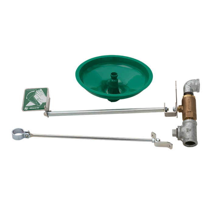Haws 8111FP, Freeze-Resistant, Wall-Mounted, Drench Shower with AXION MSR Showerhead, Emergency Equipment