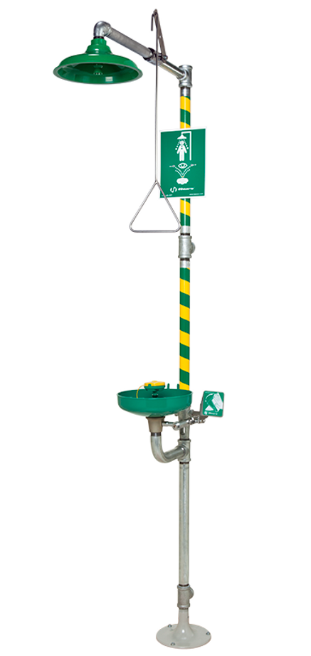 Haws 8320-8325, Combination Shower and Eye/Face Wash with AXION MSR Eye/Face Wash and Showerhead, Emergency Equipment