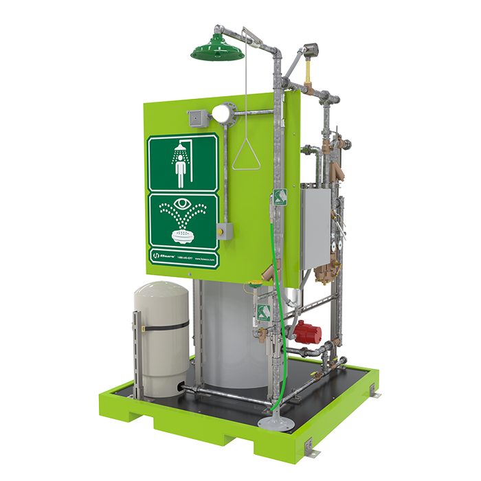 Haws 8760, AXION MSR Skid Mounted Emergency Tempered Shower and Eye/Face Wash