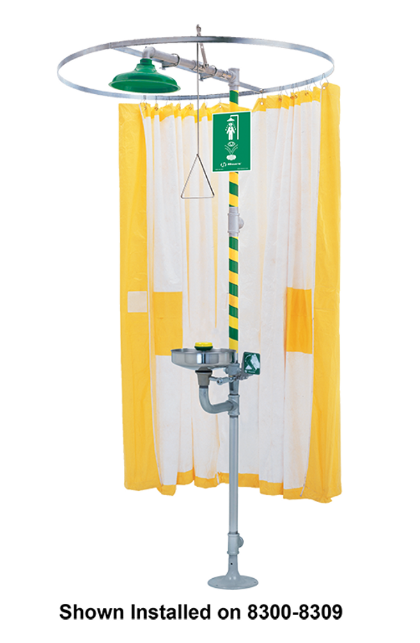 Haws 9037, Privacy Curtain used on Horizontal Emergency Drench Shower or Combination Emergency Drench Shower and Eyewash Units
