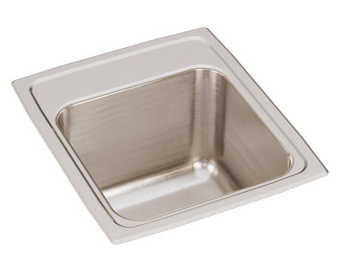 "Elkay DLR151710 Lustertone Classic Stainless Steel 15"" x 17-1/2"" x 10"", Single Bowl Drop-in Sink"
