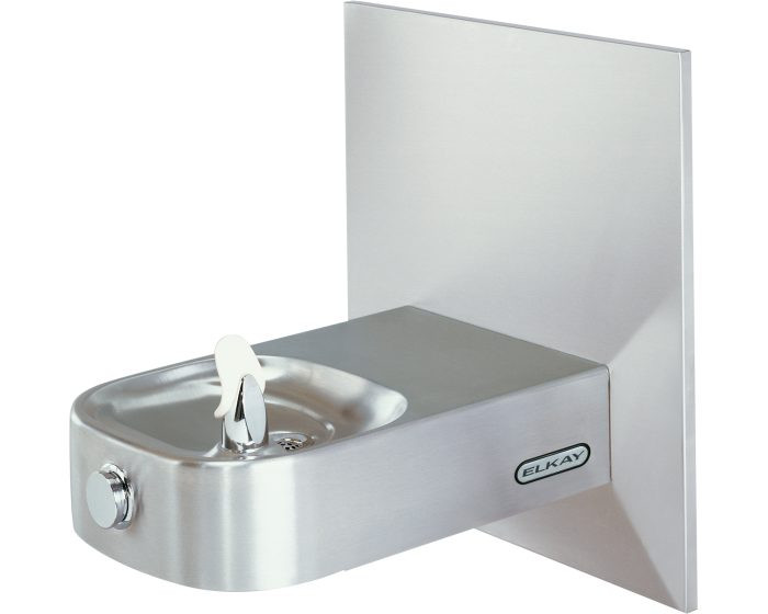 Elkay ECDFPW314FPK Child Drinking Fountain, Slimline, Soft Sides, Freeze-Resistant, Vandal-Resistant Bubbler, ADA, Non-Refrigerated