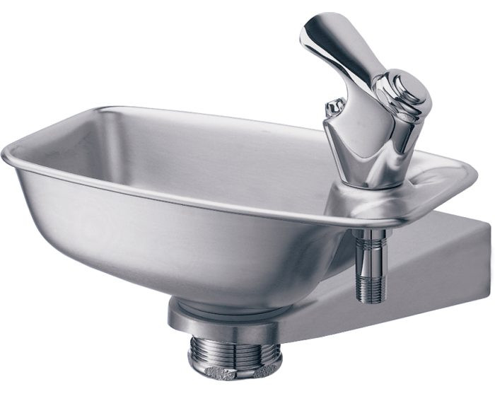 Elkay EDF15R Bracket Fountain, Non-Filtered, Non-Refrigerated, Stainless Steel