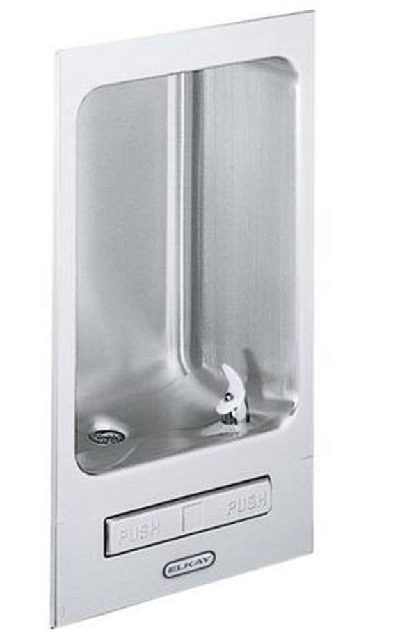 Elkay EDFB12C Wall Mount Fully Recessed Fountain, Non-Filtered, Non-Refrigerated, Stainless Steel