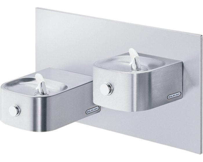 Elkay EDFP217FPRAK Drinking Fountain, Reversed Bi-Level, Soft Sides, Freeze-Resistant, Vandal-Resistant Bubbler, ADA, Non-Refrigerated