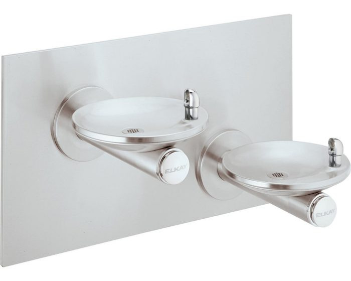 Elkay EDFPBVM117K Drinking Fountain Kit, Bi-Level, SwirlFlo, ADA, Includes Vandal-Resistant Bubbler and Surface Mounting Plate, (Non-Refrigerated)