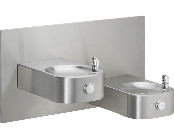 Elkay EHW217RAC Drinking Fountain, Reverse Bi-Level, Soft Sides, Heavy Duty, ADA, Non-Refrigerated