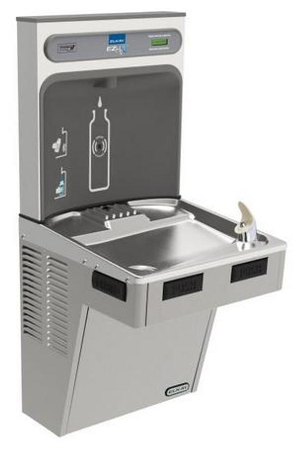 Elkay EMABFDWSLK EZH2O Bottle Filling Station with Single ADA Cooler, Non-Filtered, Non-Refrigerated, Light Gray Granite