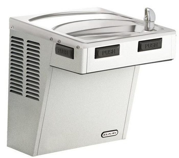 Elkay EMABFVR8S Refrigerated Drinking Fountain, Mechanically-Activated, 8.0 GPH Water Cooler, Vandal-Resistant Bubbler, ADA, Stainless Steel