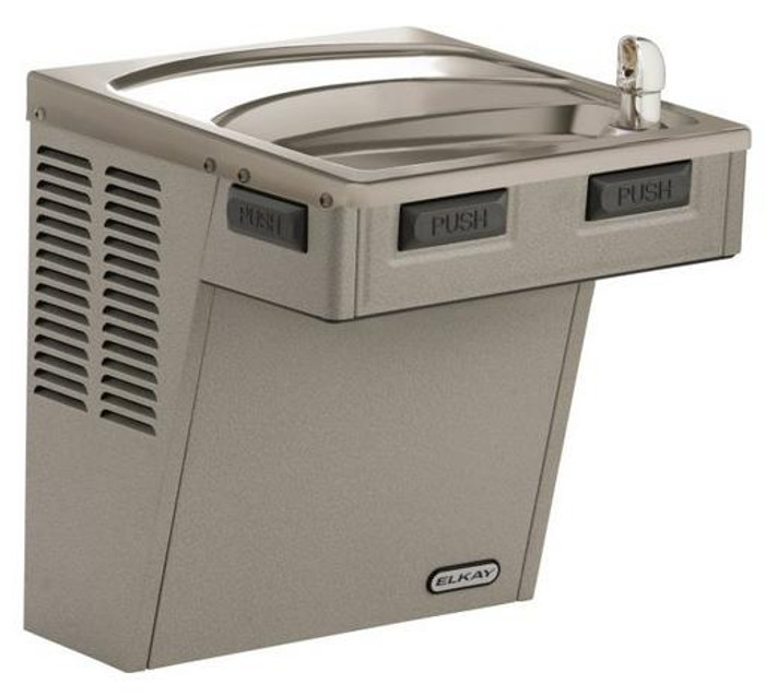 Elkay EMABFVRDL Drinking Fountain, Mechanically-Activated, ADA, Vandal-Resistant Bubbler, Light Gray Granite, (Non-Refrigerated)