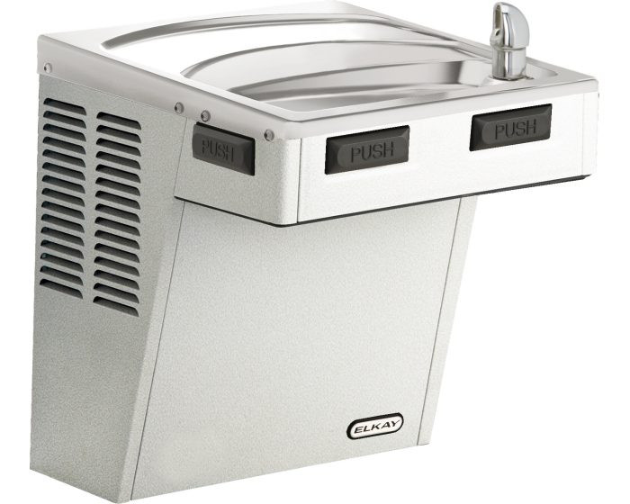 Elkay EMABFVRDS Drinking Fountain, Mechanically-Activated, ADA, Vandal-Resistant Bubbler, Stainless Steel, (Non-Refrigerated)