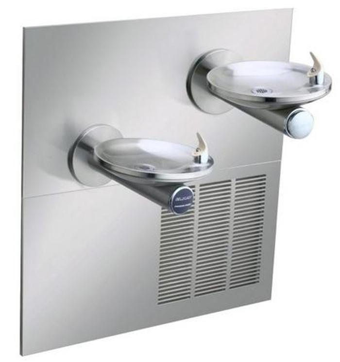 Elkay ENOB28RAK Refrigerated Drinking Fountain, Reversed Bi-Level, Sensor-Operated, SwirlFlo, 8.0 GPH Water Cooler, ADA