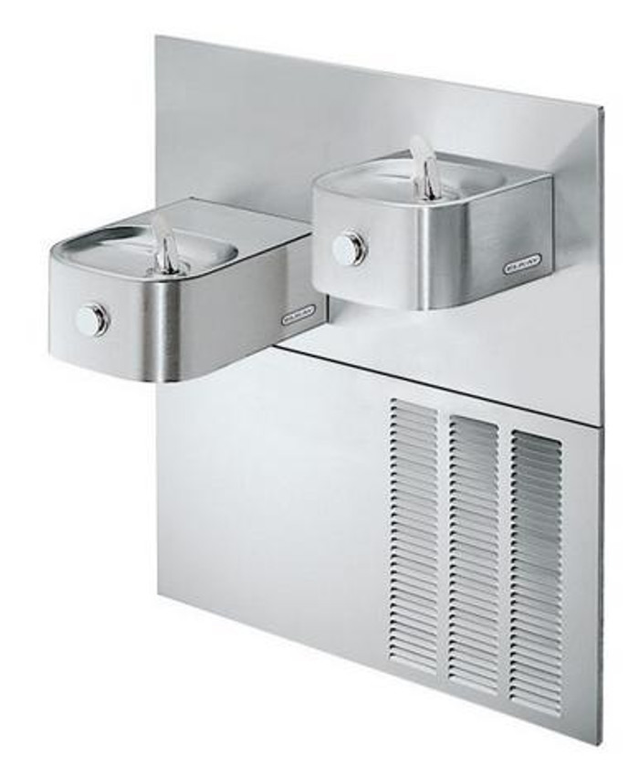 Elkay ERFP28RAK Refrigerated Drinking Fountain, Reversed Bi-Level, Soft Sides, 8.0 GPH Water Cooler, ADA