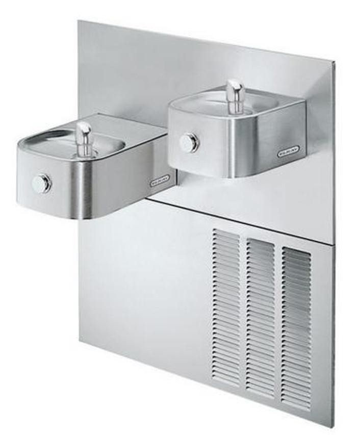 Elkay ERFPVR28RAK Refrigerated Drinking Fountain, Reversed Bi-Level, Soft Sides, Vandal-Resistant Bubbler, 8.0 GPH Water Cooler, ADA