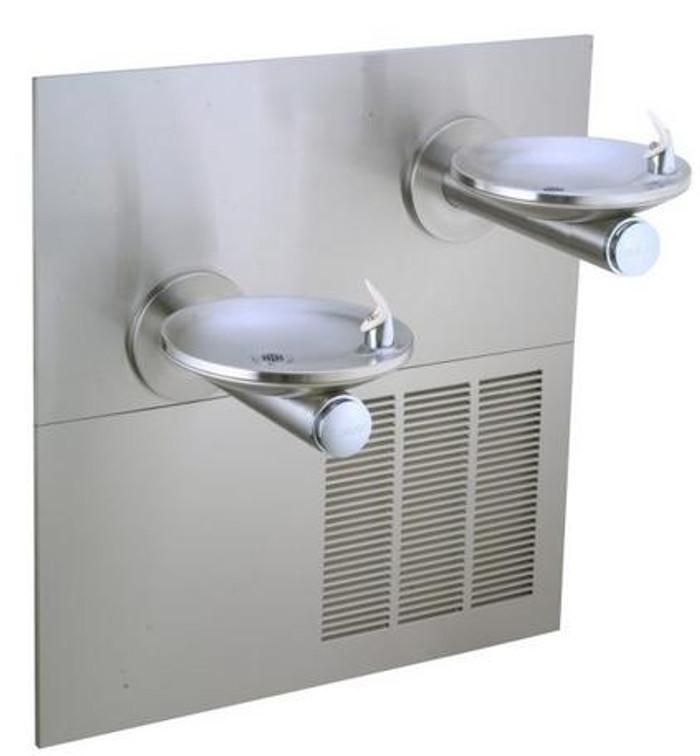 Elkay ERPB28RAK Refrigerated Drinking Fountain, Reversed Bi-Level, SwirlFlo, 8.0 GPH Water Cooler, ADA