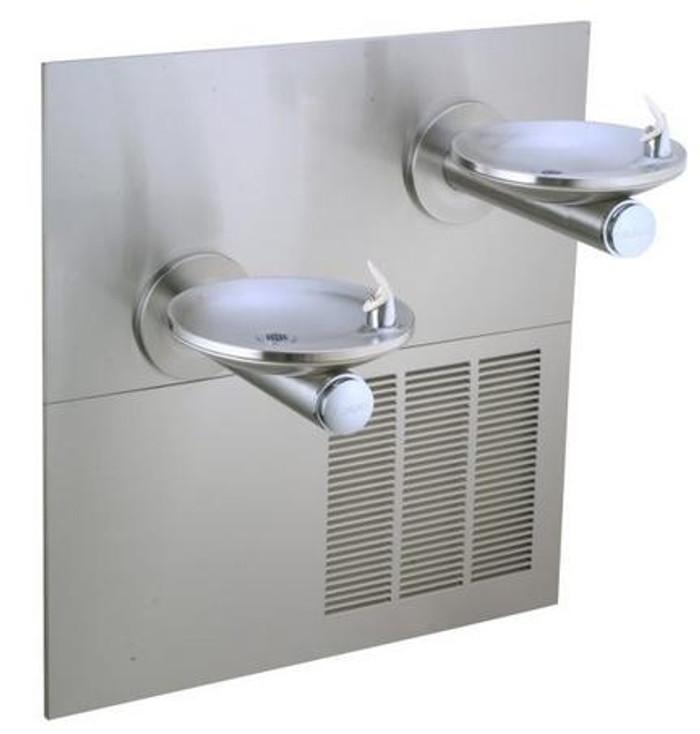 Elkay ERPBMV28RAK Refrigerated Drinking Fountain, Reversed Bi-Level, SwirlFlo, Vandal-Resistant Bubbler, 8.0 GPH Water Cooler, ADA, Includes Mounting Frame