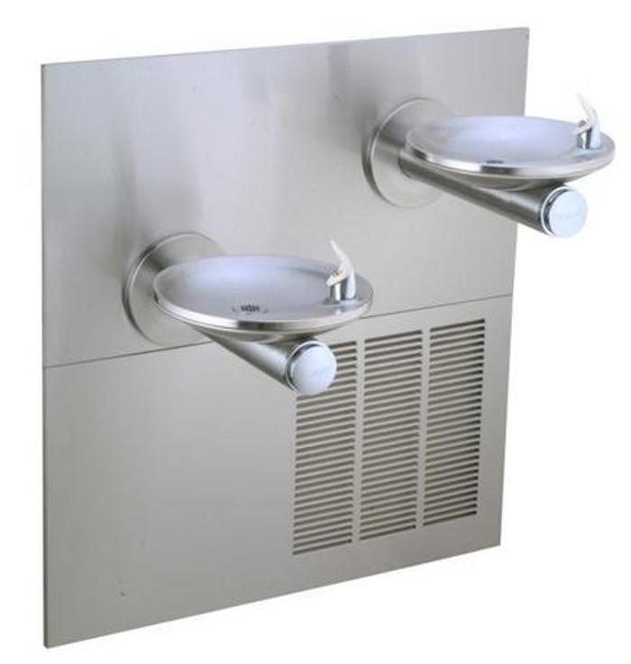 Elkay ERPBV28RAK Refrigerated Drinking Fountain, Reversed Bi-Level, SwirlFlo, Vandal-Resistant Bubbler, 8.0 GPH Water Cooler, ADA