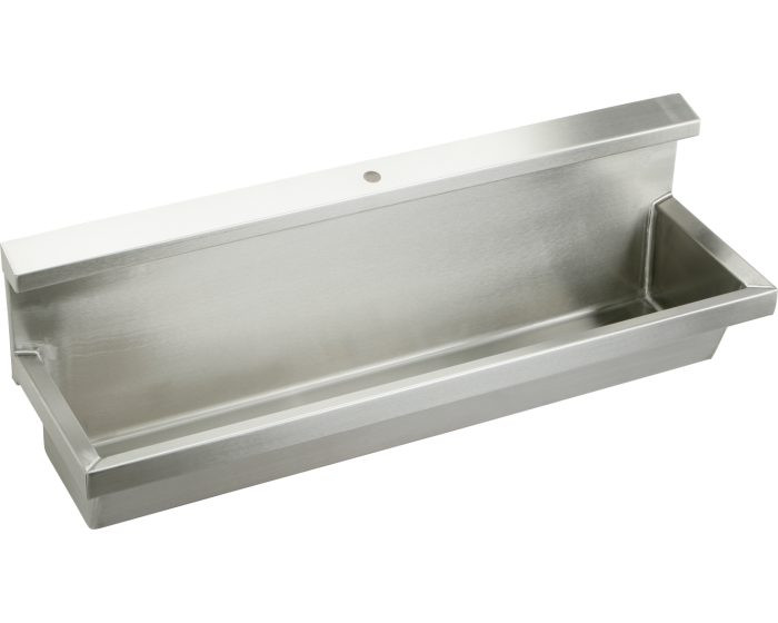"""Elkay EUH4814C Multiple Station Trough Urinal with Integral Hood, Wall Mounted, Stainless Steel, 48"""" x 14"""" x 8"""""""