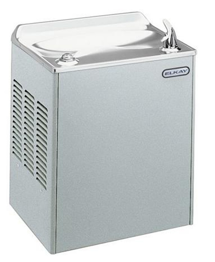 Elkay EWDALF Drinking Fountain, Wall Mounted, Glass Filler Prepped, Light Gray Granite, (Non-Refrigerated)