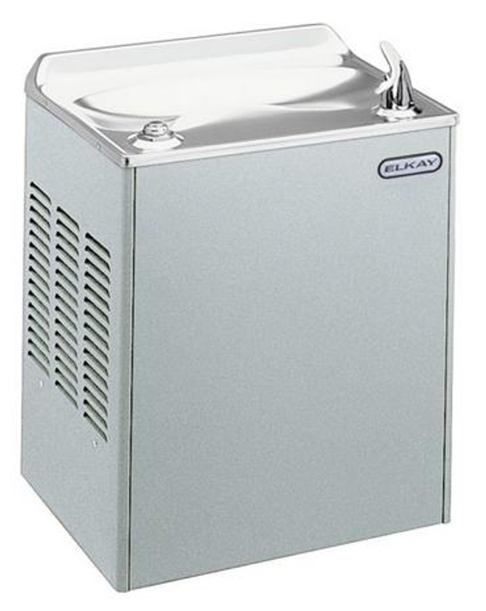 Elkay EWDAS Drinking Fountain, Wall Mounted, Stainless Steel, (Non-Refrigerated)