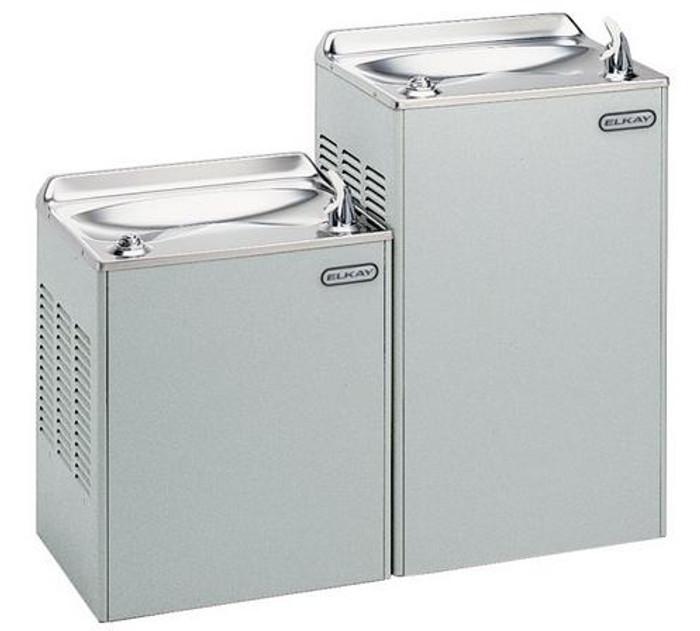 Elkay EWTLA14LK Refrigerated Drinking Fountain, Bi-Level, 14.0 GPH Water Cooler, Light Gray Granite