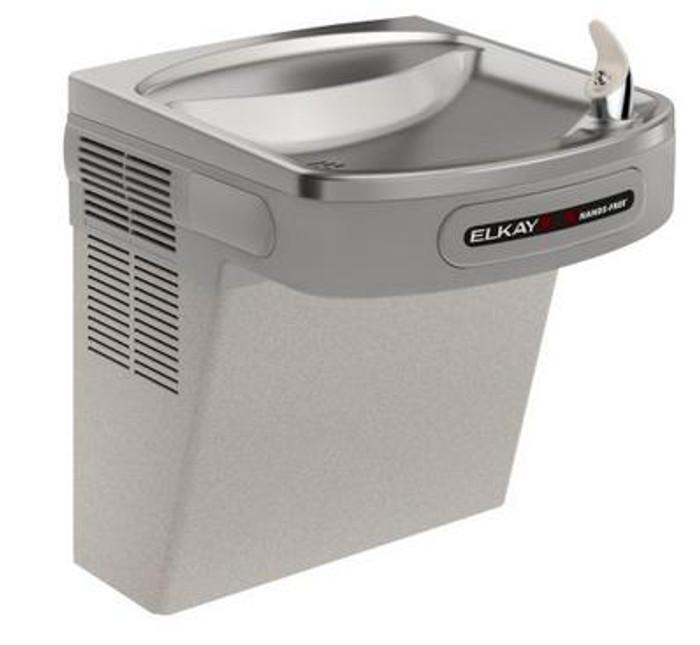 Elkay EZO8L Refrigerated Drinking Fountain, Sensor-Operated, 8.0 GPH, ADA, Light Gray Granite