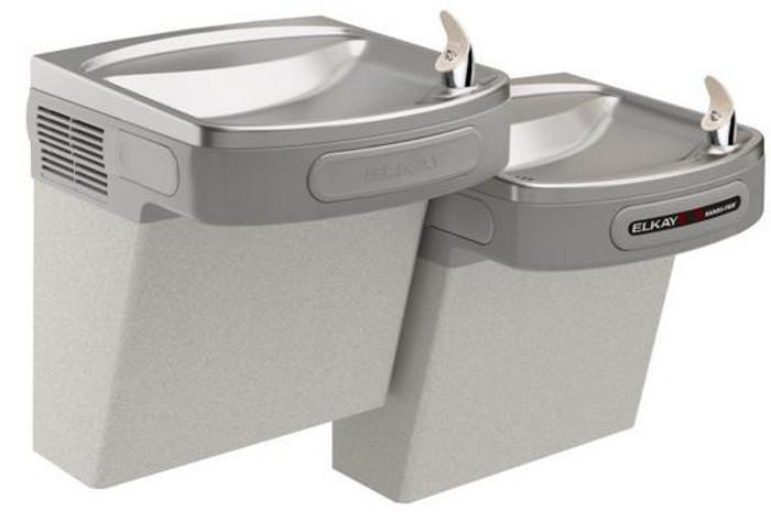 Elkay EZOSTL8LC Refrigerated Drinking Fountain, Sensor-Operated, Versatile Bi-Level, 8.0 GPH, ADA, Light Gray Granite