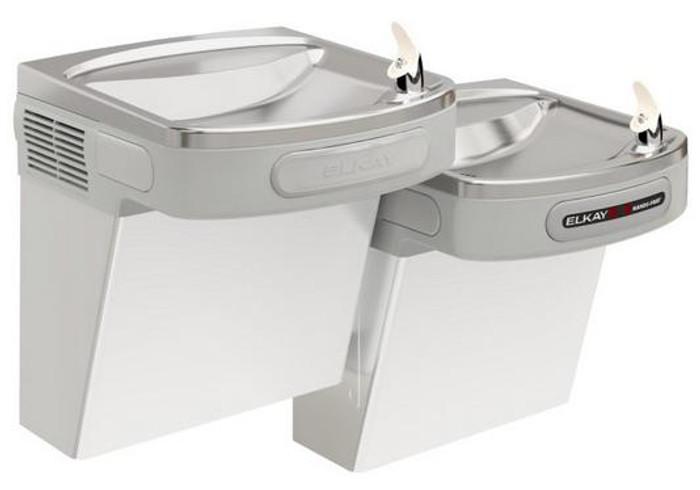 Elkay EZOSTL8SC Refrigerated Drinking Fountain, Sensor-Operated, Versatile Bi-Level, 8.0 GPH, ADA, Stainless Steel
