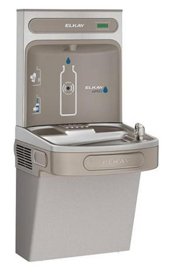 Elkay EZS8WSVRLK EZH2O Bottle Filling Station with Single EZ Refrigerated Drinking Fountain, Vandal-Resistant Bubbler, 8.0 GPH, ADA, Light Gray Granite