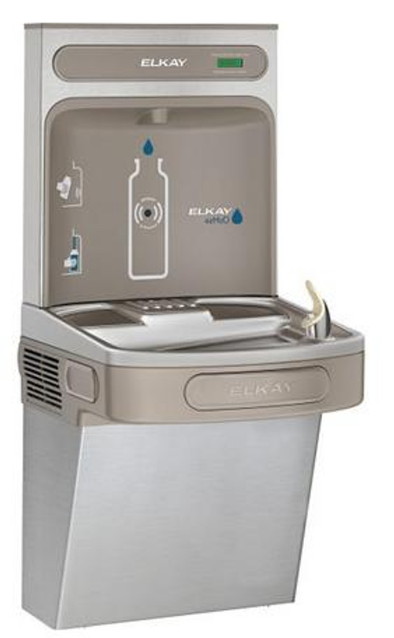 Elkay EZSDWSSK EZH2O Bottle Filling Station with Single EZ Drinking Fountain, ADA, Stainless Steel, (Non-Refrigerated)