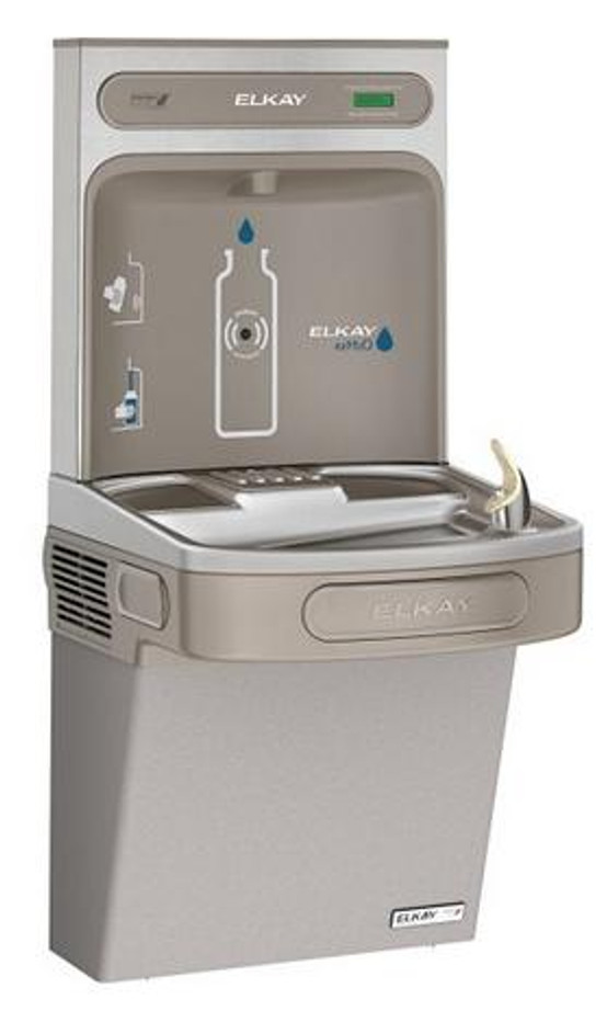 Elkay EZSG8WSLK EZH2O Bottle Filling Station with Refrigerated Drinking Fountain, High Efficiency, GreenSpec Listed, 8.0 GPH, ADA, Non-Filtered, Light Gray Granite