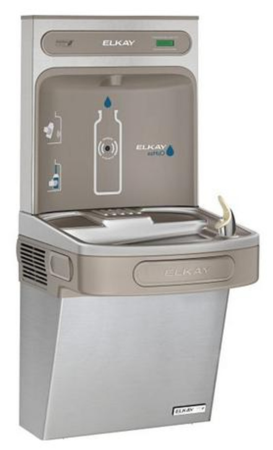 Elkay EZSG8WSSK EZH2O Bottle Filling Station with Refrigerated Drinking Fountain, High Efficiency, GreenSpec Listed, 8.0 GPH, ADA, Non-Filtered, Stainless Steel