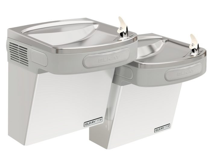 Elkay EZSTLG8SC Refrigerated Drinking Fountain, High Efficiency, GreenSpec Listed, Bi-Level, 8.0 GPH Water Cooler, ADA, Stainless Steel